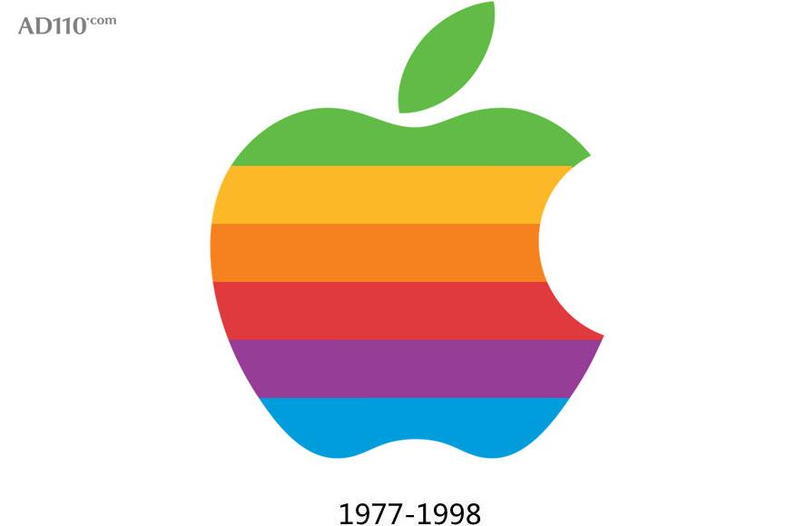 苹果的彩虹logo使用了21年,它出现在macintosh,powerbook,newton等多